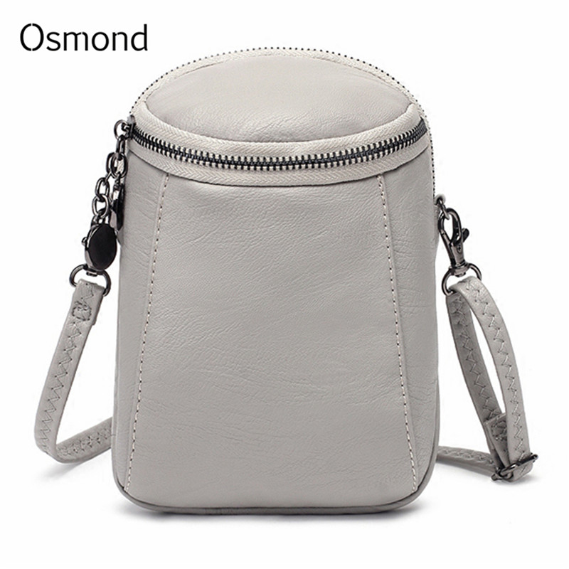 Osmond Casual Mobile Phone Bag Women Fashion Shoulder Bags Small Solid Messenger Bag For Ladies Vintage