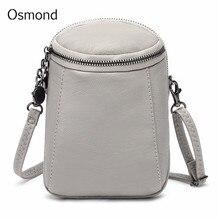 Осмонд Повседневное мешок мобильного телефона Для женщин модные сумки на плечо мелких твердых сумка для дам Винтаж Ретро Bolsas Feminina