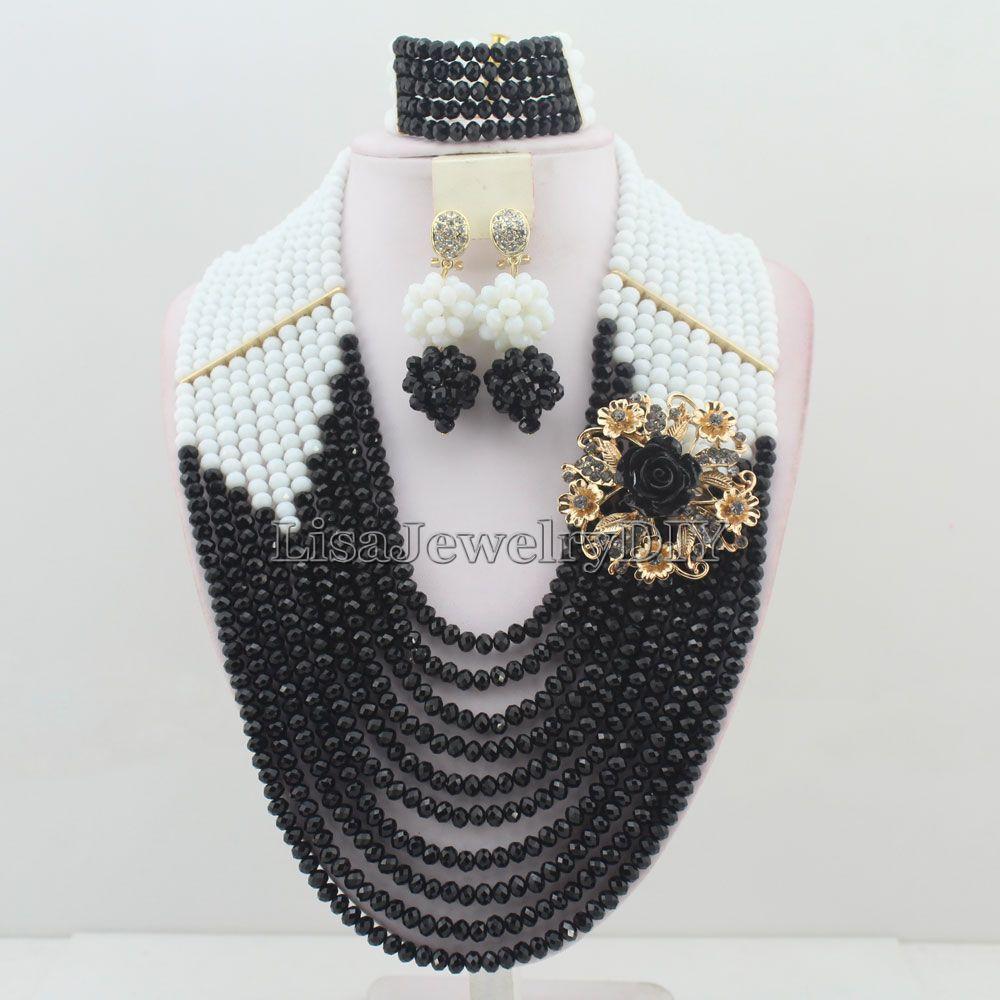 ᗜ LjഃNewest African Beads Jewelry Sets Nigerian Wedding Bridal ...