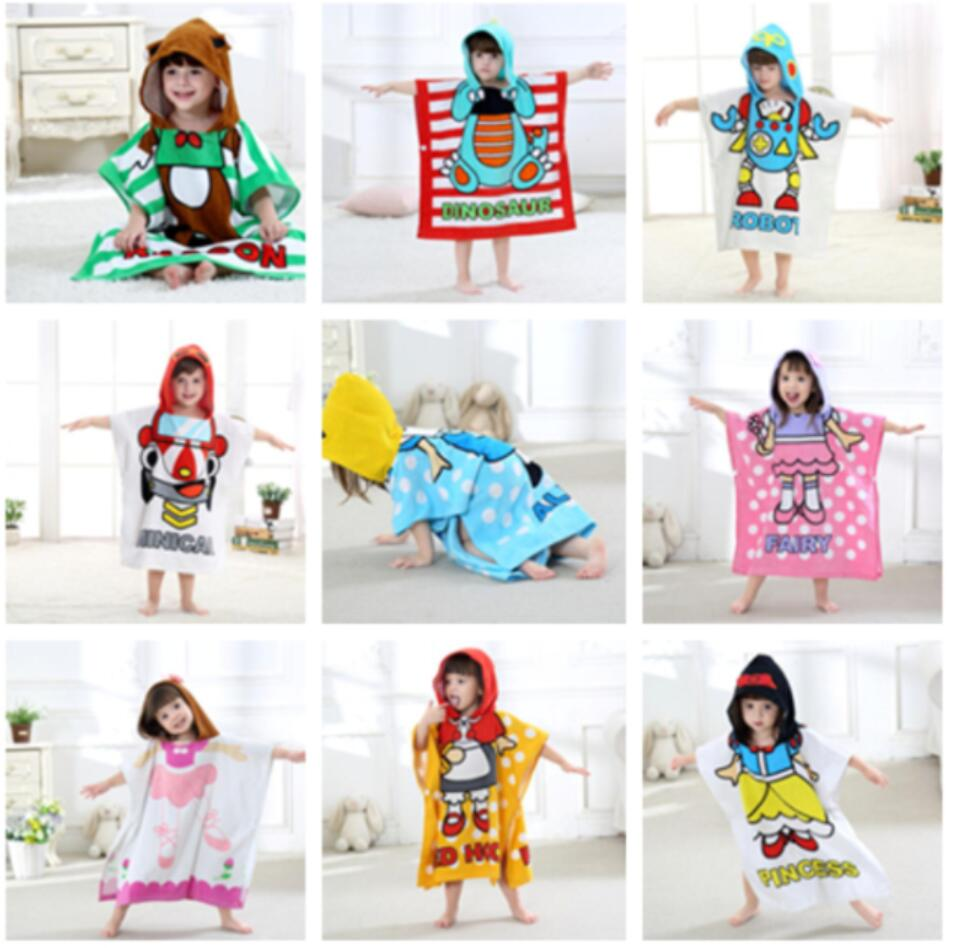 Alice Boys Girls Cartoon Bathrobes Snowwhite Dinosaur Panda Car Robot Cute Towel Children Bath Towels Kids Baby Bathrobe Pajamas