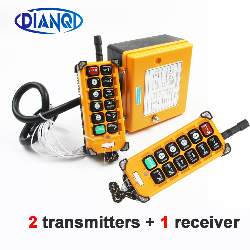 220VAC 12V 24V 36V 380V Wireless Crane Remote Control F23 A++S Industrial Remote Control Hoist Crane Push Button Switch-in Switches from Lights & Lighting