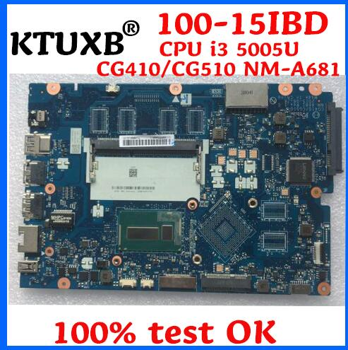 KTUXB CG410 CG510 NM A681 motherboard for Lenovo B50 50 100 15IBD notebook motherboard CPU i3
