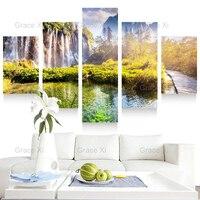 5 Bảng Điều Chỉnh Giấc Mơ Đẹp Bức Tranh Phong Cảnh Phong Cảnh Scenery Canvas Art Ảnh Home Decoration Đối Living Room Có Khung Pr1113