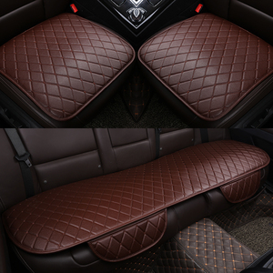 Image 3 - PU Leather Car Seat Cover Universal Auto Interior Car Front Rear Back Cushion Protector Four Season Accessories Interior