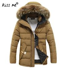 Men's Winter Jackets 4XL Thick Hooded Fur Collar Parka Men Coats Casual Padded Men's Jackets Male Clothing