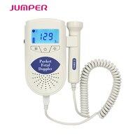 Jumper Duży wyświetlacz Podświetlenie LCD przenośne usg płodu Doppler Angelsounds Fetal heart monitor z 3 MHZ sondy i CE i FDA