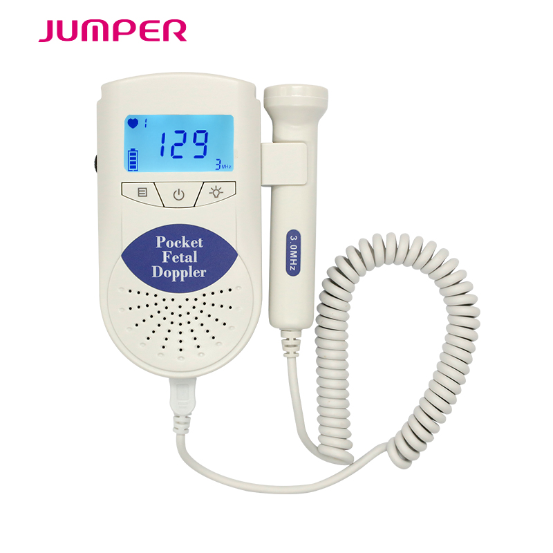 Jumper Large Back Light LCD display Angelsounds Fetal Doppler portable ultrasound fetal heart monitor with 3MHZ probe and CE&FDA ultrasonic pocket fetal doppler angelsounds fetal doppler jpd 100s 3mhz baby heart monitor fhr new lcd display