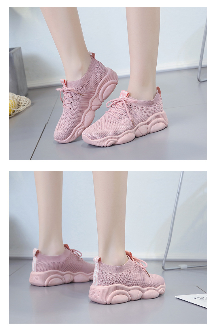 Breathable Women Casual Shoes Summer Lace Up White Platform Sneakers Fashion Soft Walking Flat Women Vulcanize Shoes New VT220 (3)