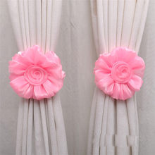 Curtain tieback Rose Flower Window Curtain Tieback Buckle Clamp Hook Fastener Rose flower Curtain tieback dropshipping 18may16(China)