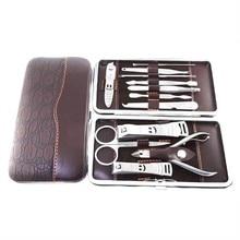 Stainless Nipper Cutter Nail Clipper Pedicure Manicure Set Kit Case 12 in 1 Set  HB88