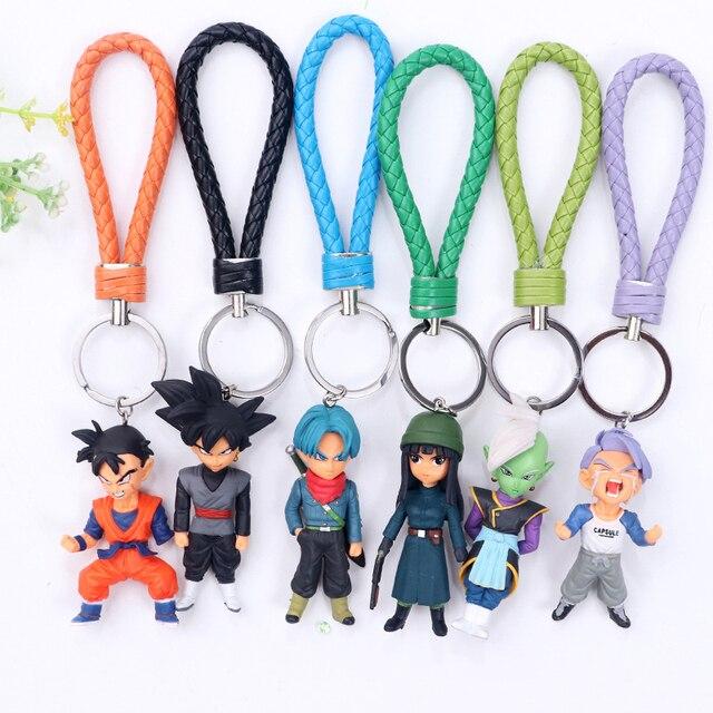 Anime Dragon Ball Anime Figuras de Ação Super Saiyan Goku Vegetto Preto Deus da Criação Zamasu Mai chaveiro Bola Dragão Brinquedos