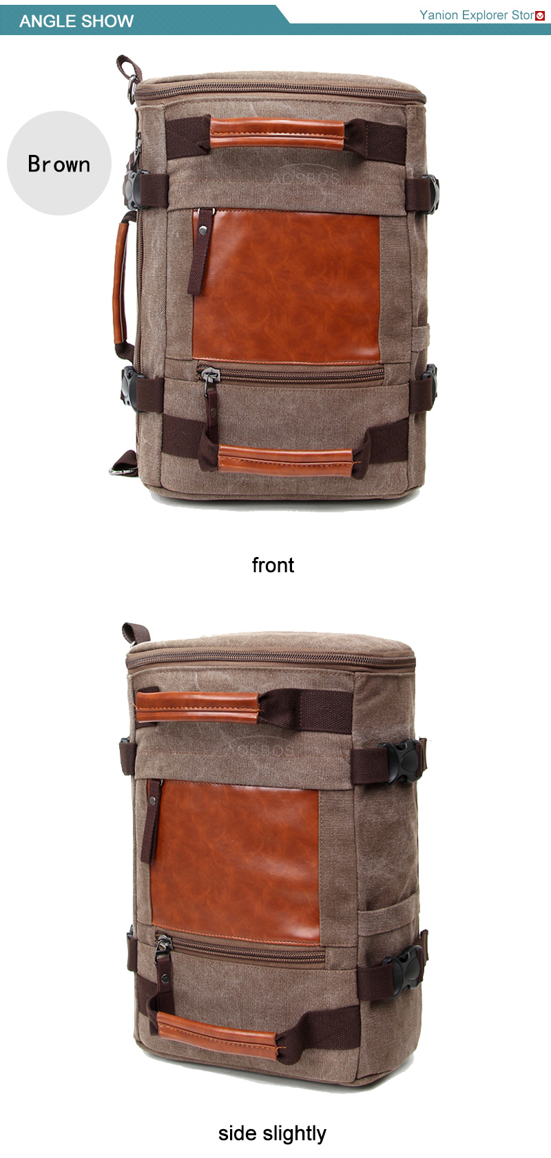 Aosbos 2017 Vintage Canvas Gym Bag Men Women Training Fitness Bags Outdoor Traveling Sports Bag Durable Multifunctional Handbag