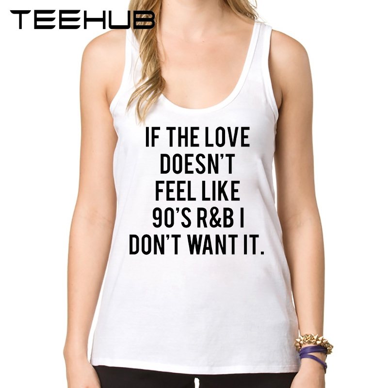 Fashion Letters Printed Women Tank Tops 90s R&B Love Novelty Summer Camisoles Ladies O-Neck Slim Vest