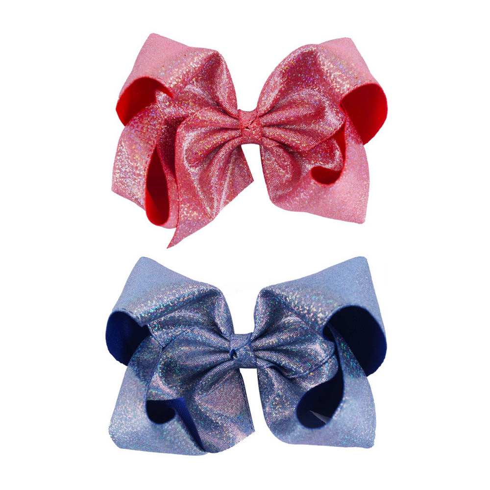 3 Pcs 8 Girl Large Glitter JoJo Hair Bow With Clips Barrettes WOmen Girl Dance Bow Fashion Hair Accessories women hair accessories girl hair fascinators wool felt hat flower girl hair bows with clips