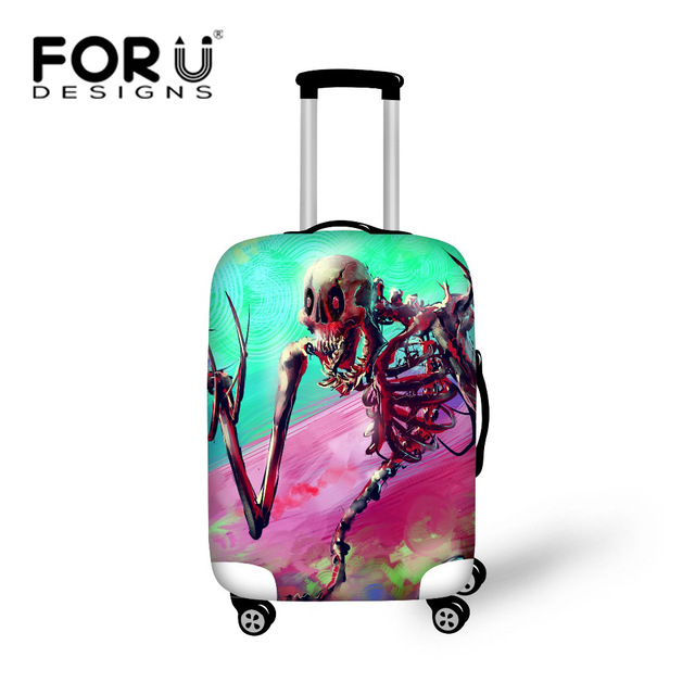 Cool Skull Suitcase Covers Elastic Luggage Protective Cover Travel Suitcase Covers Apply to 18-30 Inch Cases Luggage Accessories