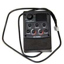 Cherub GT-6 Acoustic Guitar Preamp 3 Band EQ Equalizer with Tuner and reverb/ Delay/ Chorus/ Wide Effects guitar pick holder