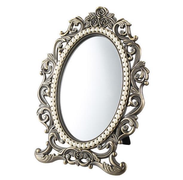 Quality Fashion Metal Desktop Makeup Mirror Portable
