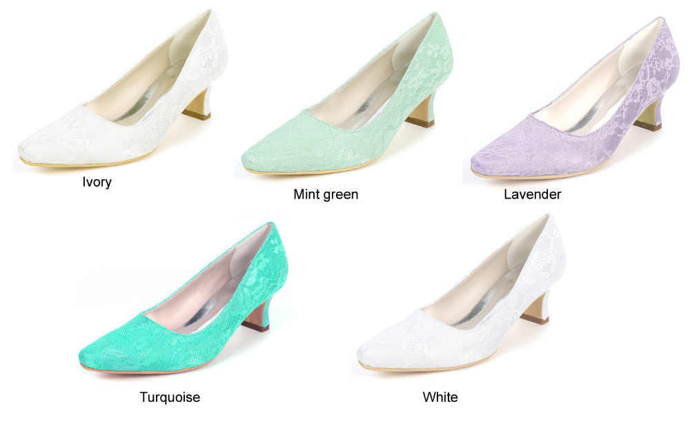 555dce493e Creativesugar sweet mint green lavender turquoise lace low heel lady  pointed toe evening dress shoes bridal wedding party heels