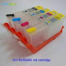 Einkshop 655 Refillable Ink Cartridge replacement For HP xl for Deskjet 3525 4615 4625 5525 6525 Printer ink