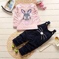 2016 Nueva Otoño Invierno Del Bebé Conjunto Deporte Batman Ropa Chándal Traje de Bebé Niños Niños y Niñas Hoodie Coat + pantalones
