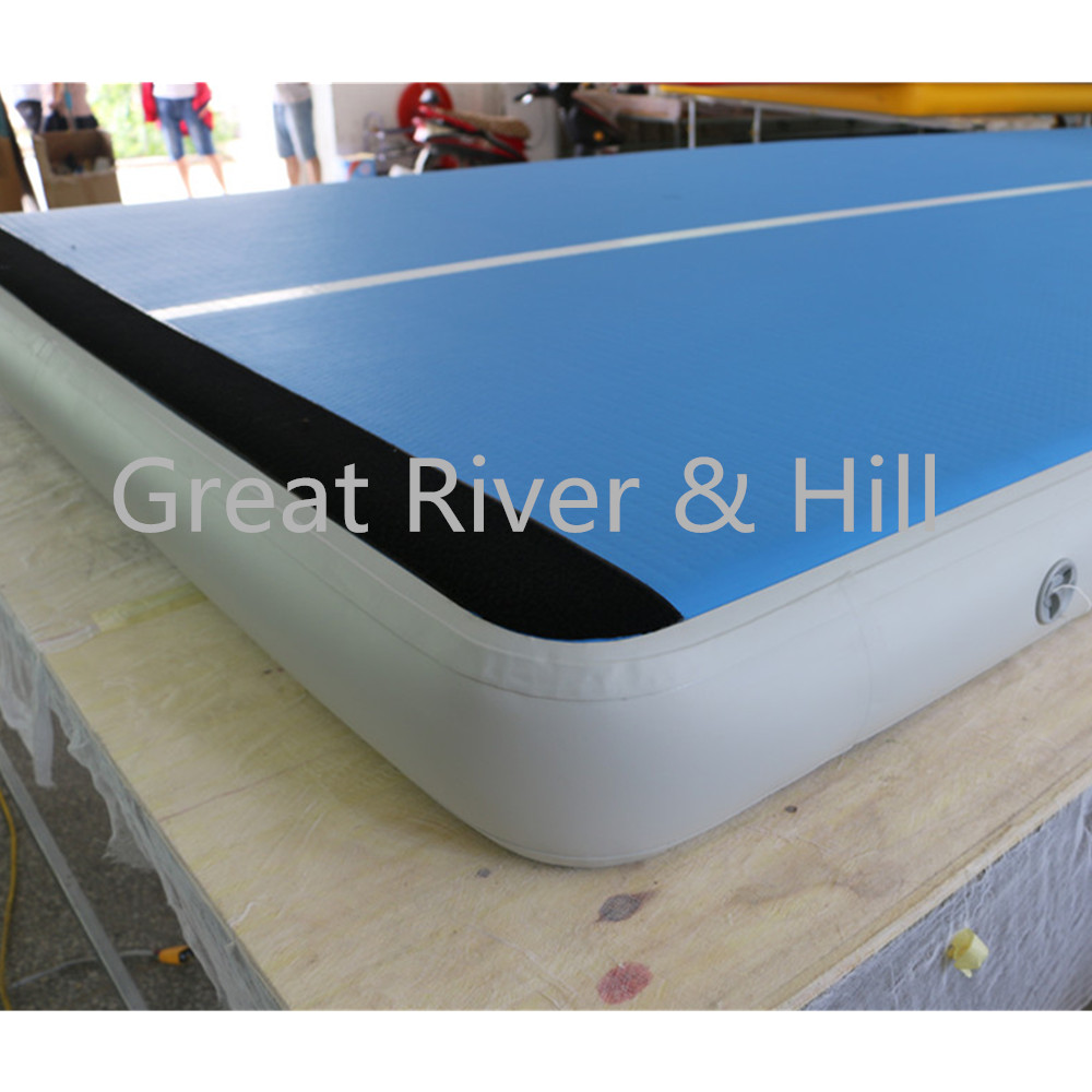 Great river & hill training mats air track high quality free fedex shipping and tax 9m x 2m x 0.2m