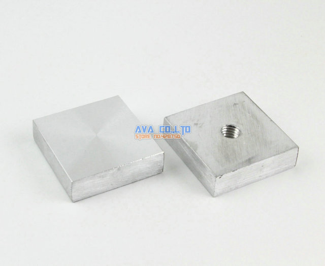 8 Pieces 35mm Aluminum Disc Glass Table Top Adapter Attach Square Decoration