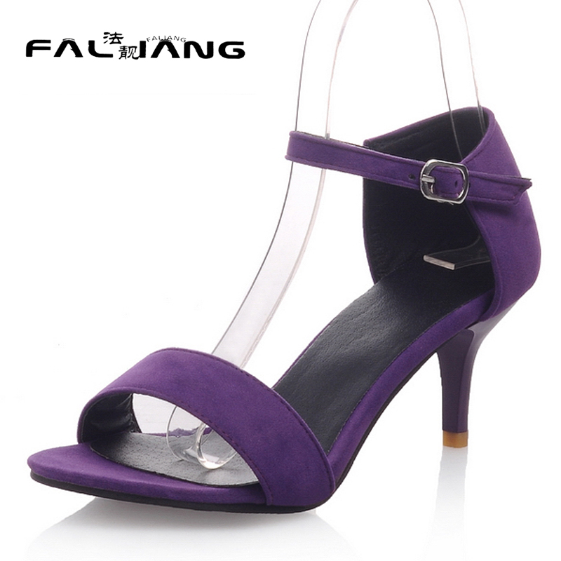 New arrival Summer plus size 11 12 13 14 15 16 Fashion Flock sexy womens Peep Toe shoes Thin Heels Summer High heel sandals new 2017 spring summer women shoes pointed toe high quality brand fashion womens flats ladies plus size 41 sweet flock t179