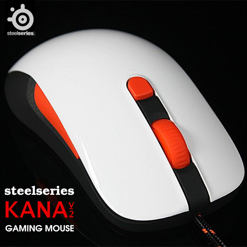 Original SteelSeries Kana V2 mouse Optical Gaming Mouse & mice Race Core Professional Optical Game Mouse 1pc new mouse wire mouse cable for steelseries kana v1 v2 kinzu v1 v2 v3 with free mouse feet