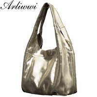 Arliwwi Elegant Simple Style 100% Genuine Leather Women Classic Luxury Serpentine Embossed Totes HandbagsFree Shipping B4027