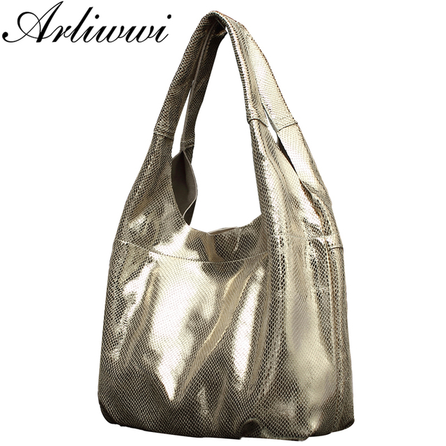 Elegant Simple Style 100% Genuine Leather Women Classic Luxury Serpentine Embossed Totes HandbagsFree Shipping B4027