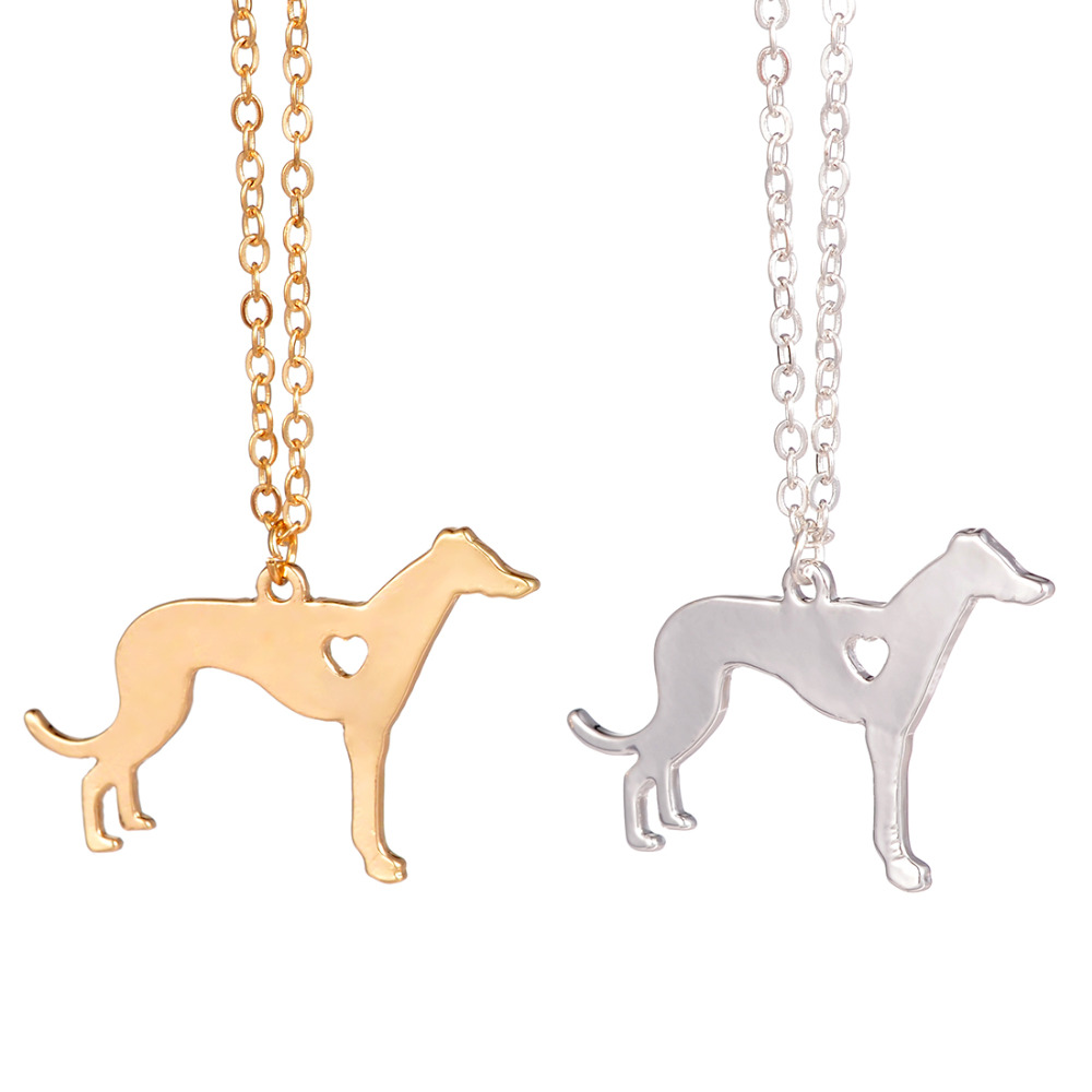 Gold & silver 1pc Greyhound Necklace Dog Pendant Dog Jewelry Dog Breed Pet Jewelry Pets Memorial Gift Breeder Gift Dog lovers
