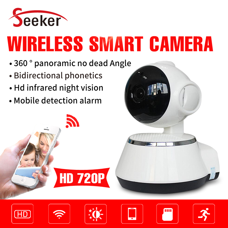 Free Shipping Wholesale Factory Full HD 1.0MP/720P Wireless Wifi IP Camera for Home Security With Audio and Alarm free shipping factory wholesale nio t6b 1w 6w fm amplifier audio transmitter broadcast radio with pc control