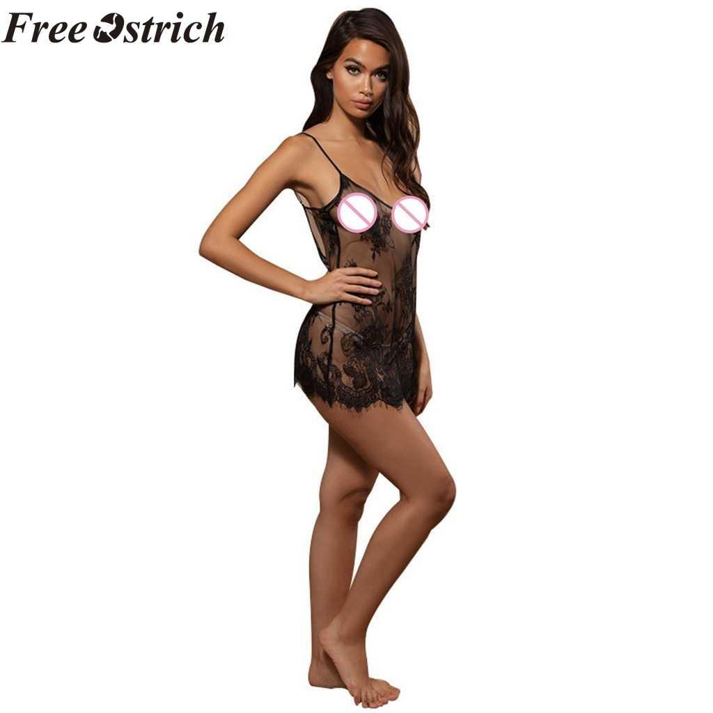 Бесплатная страусиное женское нижнее белье, сексуальное нижнее белье кукольная Пижама улучшает качество жизни пары тонкое прозрачное кружевное Привлекательное платье