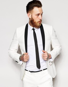 Classic Style One Button Ivory Groom Tuxedos Groomsmen Men's Wedding Prom Suits Custom Made (Jacket+Pants+Girdle+Tie) K:368
