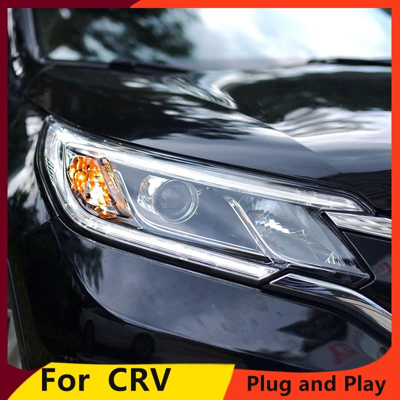 KOWELL Car Styling For Honda CRV headlights 2015 2016 head lamp LED DRL front light Bi