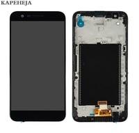 "5.3 ""para lg k20 plus mp260 tp260 vs501 display lcd tela de toque digitador assembléia com moldura quadro|LCDs de celular| |  -"