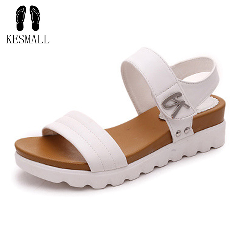 Big Size Summer Women Genuine Leather Sandals Vintage Ladies Flat Sandials Ankle Strap Fashion Casual Platforms Soft Shoes WS36 an illustrated history of britain