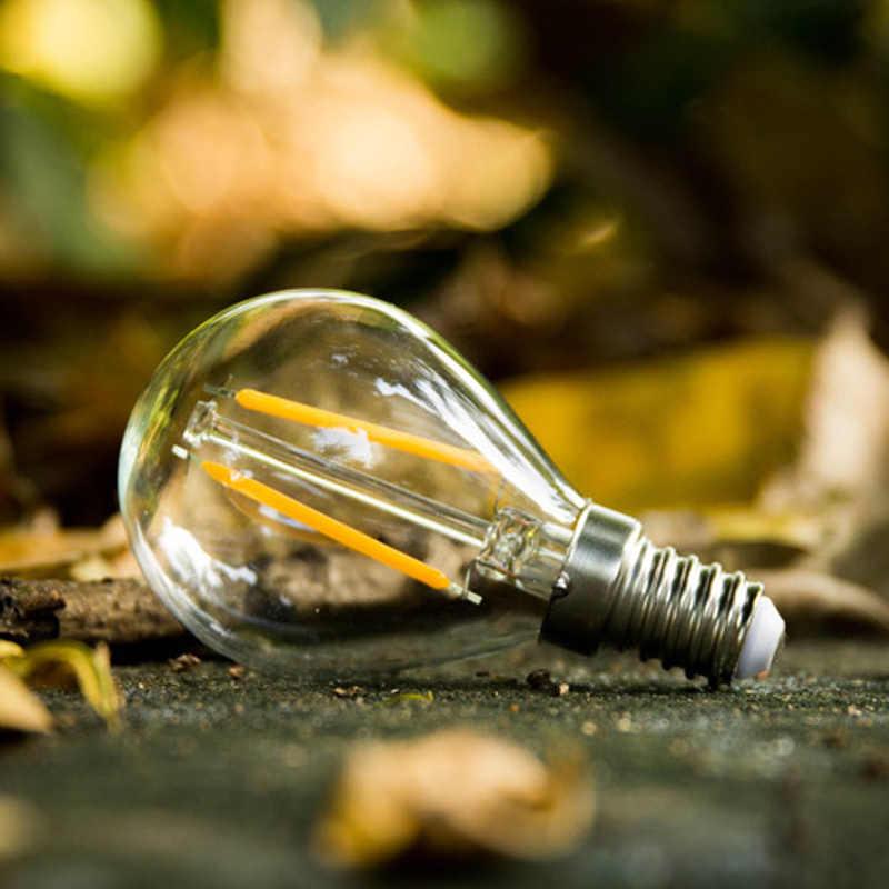 Ampoule à Filament rétro Edison LED G45 E27 E14 AC220V 2W 4W blanc froid blanc chaud Antique Style Loft Ampoule Lampada Bombilla