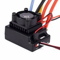 1 10 80A Sensored Sensorless Brushless Motor Speed Controller For Car Truck Brushless ESC RC Helicopter