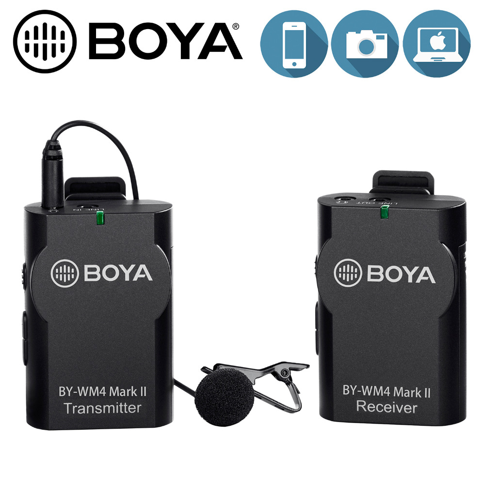 BOYA Universal Lavalier Wireless Microphone Mic for IOS Smartphone Tablet DSLR Camera Camcorder Audio Recorder PC Audio/VideoBOYA Universal Lavalier Wireless Microphone Mic for IOS Smartphone Tablet DSLR Camera Camcorder Audio Recorder PC Audio/Video