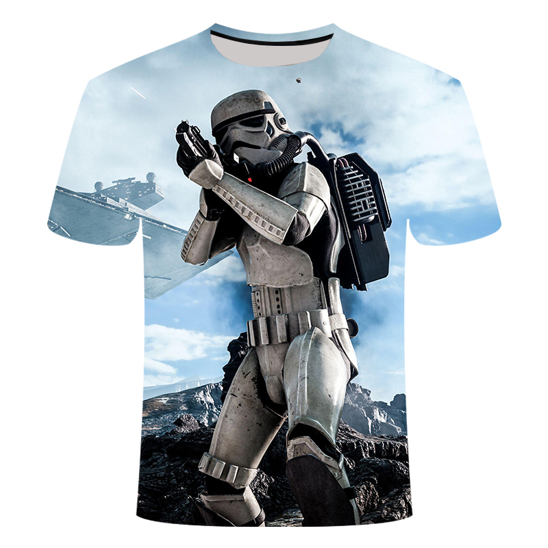 2019 Men 3d T-shirts New Fashion Starwars Tshirt Men Women T-shirt 3D Print Star Wars Movie Tee Shirts 3d T Shirt Spandex S-6xl