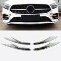 Для Mercedes-Benz A Class AMG Line 2019 2020 ABS Хромированная передняя решетка гриль сетка декоративные полосы крышка отделка 4 шт. автомобильный Стайлинг