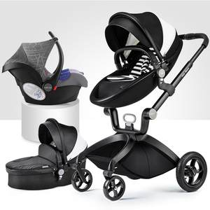 Sleeping-Basket Stroller Folded High-Landscape To Russia Lie Black Or Can-Sit