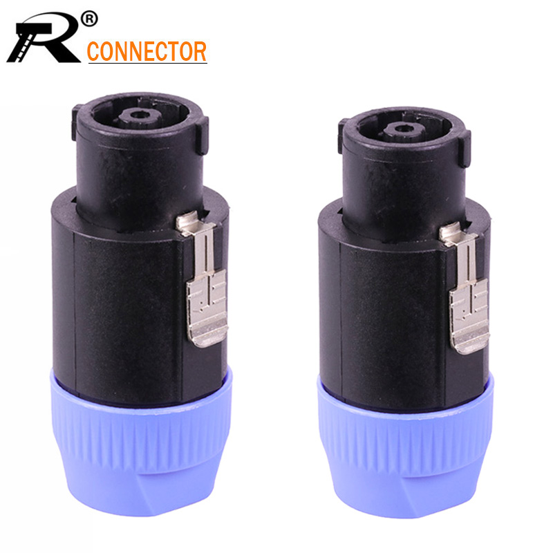 10pcs/lot 8 Pin Speakon Male Plug Connector Professional High Quality 8 Poles Power Connector PowerCon Power Plug Cable Adapter