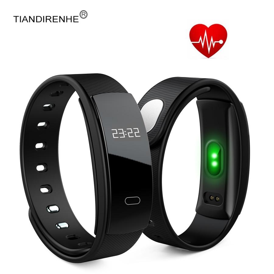 imágenes para Tiandirenhe QS80 Presión Arterial Inteligente Reloj Pulsera Perseguidor Del Ritmo Cardíaco Monitor de Fitness Sport Banda para IOS Android mi