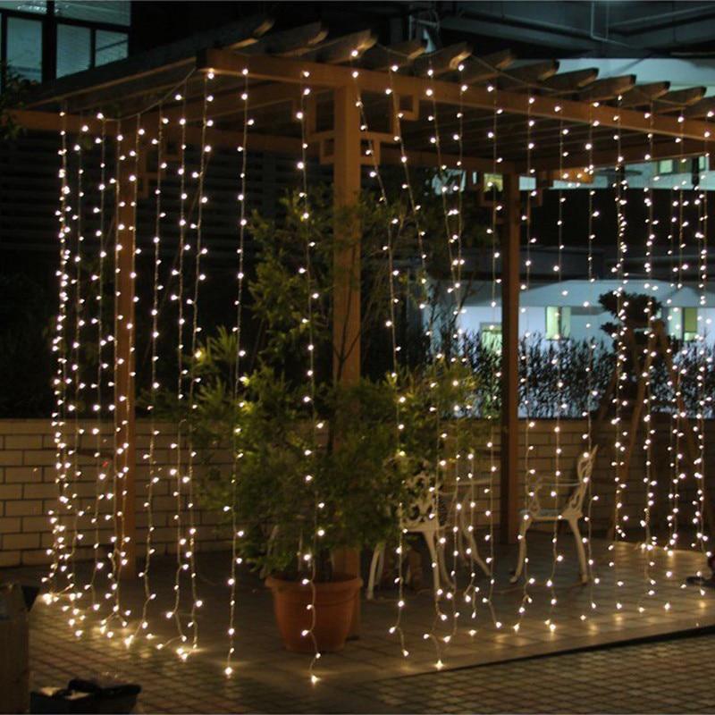 AC220V 6x3M 600LED dom vanjski odmor božićni ukrasni vjenčanje - Rasvjeta za odmor - Foto 4