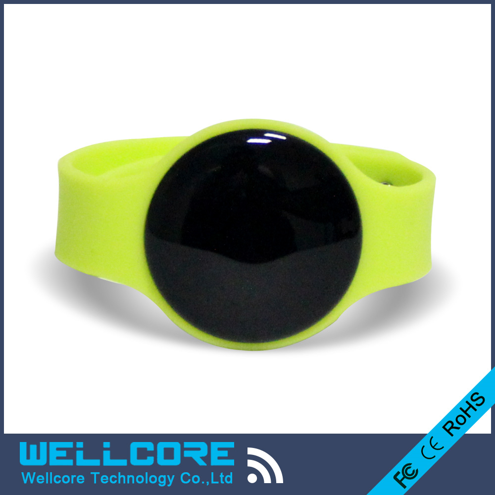Free Shopping W914N Bluetooth iBeacon Wristband Beacon based on NRF51822 module with CR2032 battery