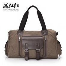 MANJIANGHONG wysokiej jakości gorąca męska torba płócienna na co dzień dzika torebka o dużej pojemności prosta torba na ramię