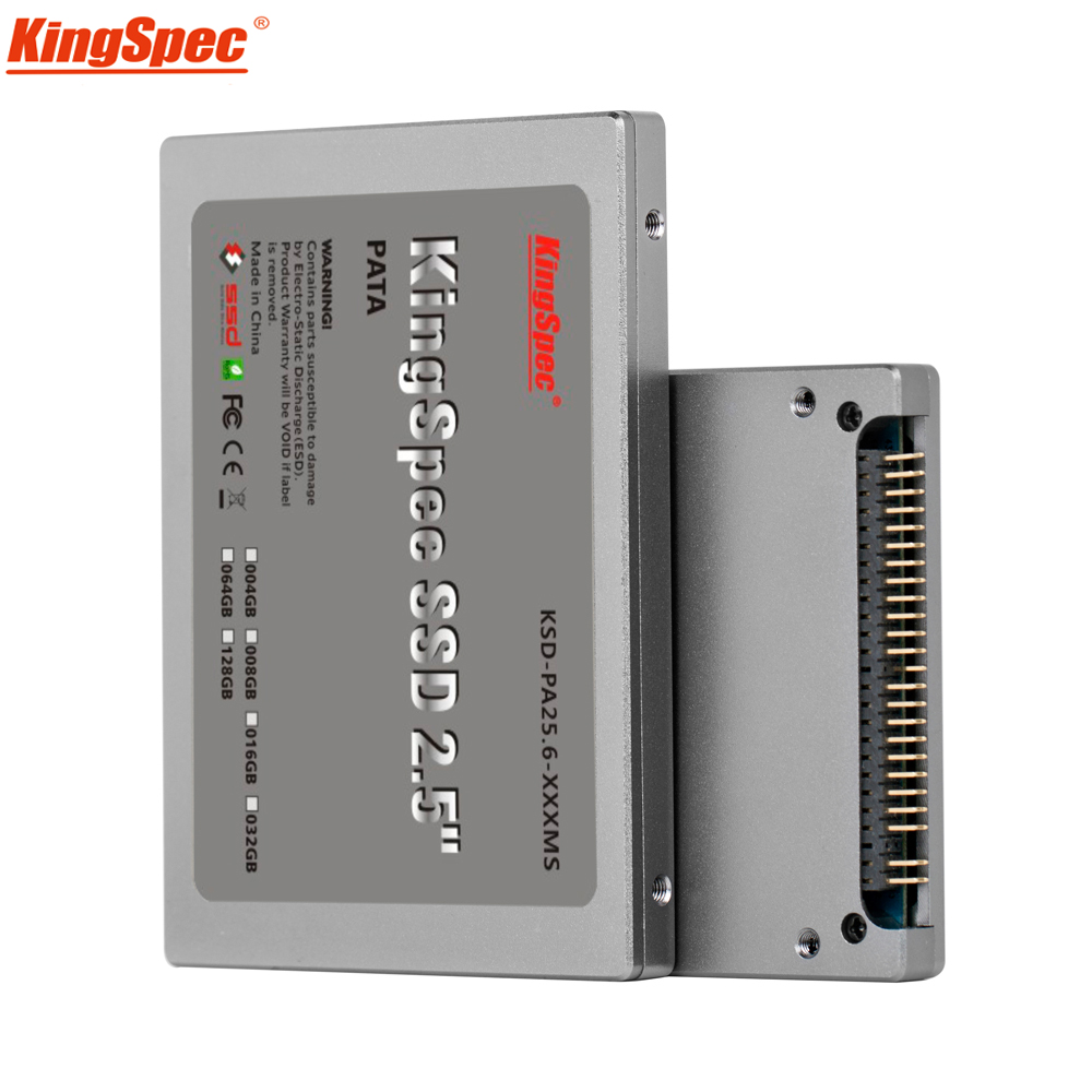 Kingspec 2.5 polegadas pata 44pin ide hd ssd 16 gb 32 gb 64 gb 128 gb 4c tlc disco rígido de estado sólido flash ide para computador portátil desktop