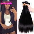 "Brazilian Virgin Hair Straight 3 Bundles Lot Straight Brazillian Hair 8""-28"" Unice Hair Company Cheveux Bresilien Natural 100g/p"